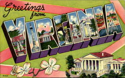 Greetings From Virginia Postcard