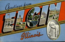 Greetings From Elgin Postcard