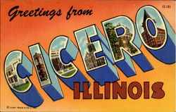 Greetings From Cicero Postcard