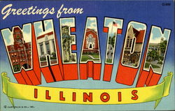 Greetings From Wheaton Postcard