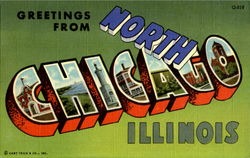 Greetings From North Chicago Postcard