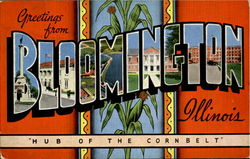 Greetings From Bloomington Postcard