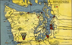 Sportsman And Tourist Map Of Olympic Peninsula