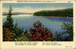 Greetings From Mariaville Lake