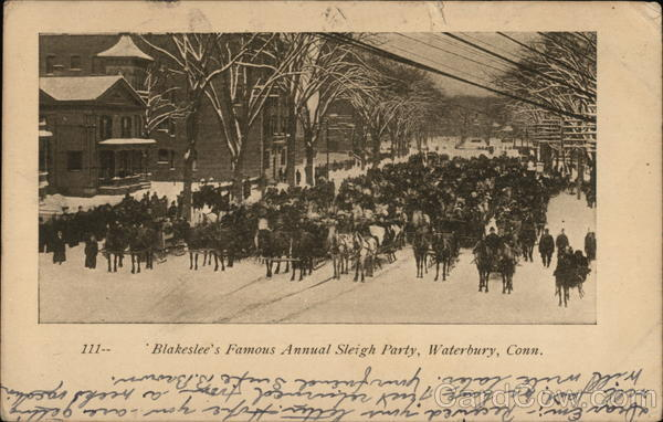 Blakeslee's Famous Annual Sleigh Party Waterbury Connecticut