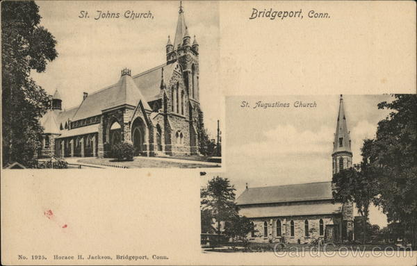 St. Johns Church, St. Augustines Church, Bridgeport, Conn. Connecticut