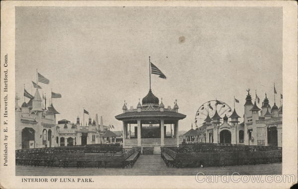 Interior of Luna Park Coney Island New York