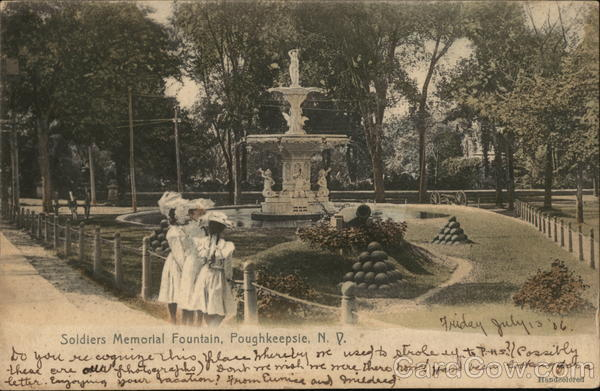 Soldiers Memorial Fountain Poughkeepsie New York