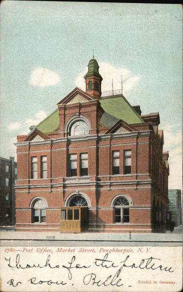 1780 - Post Office, Market Street, Poughkeepsie, N. Y. New York