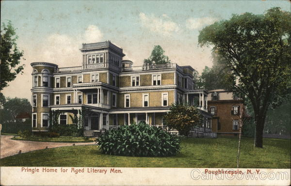 Pringle Home for Aged Literary Men Poughkeepsie New York