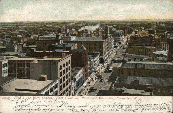 St. Paul and Main Street Rochester New York