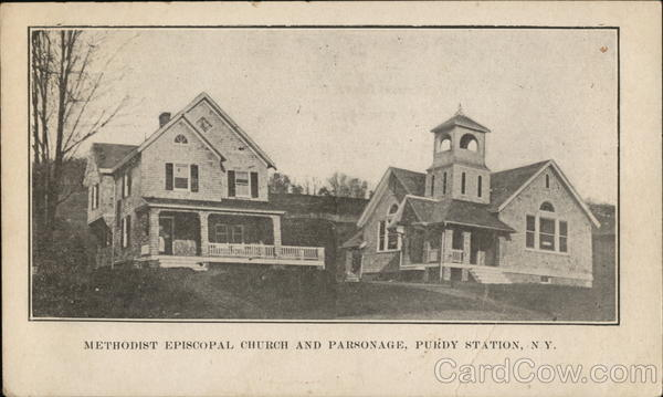 Methodist Episcopal Church and Parsonage Purdy Station New York