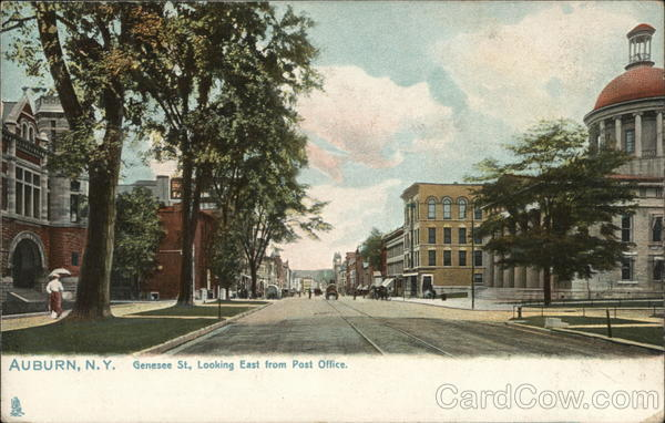 Genesee St. Looking East from Post Office Auburn New York
