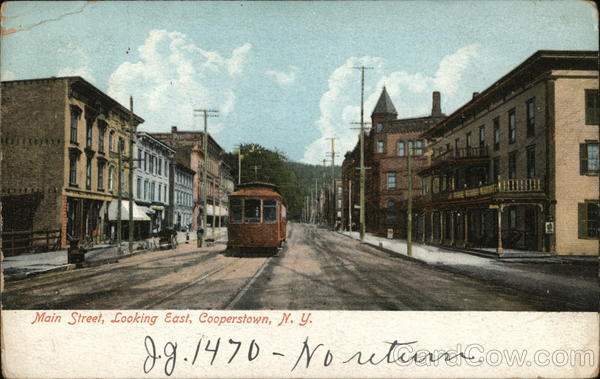 Main Street, Looking East Cooperstown New York