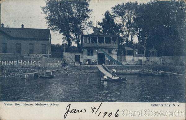 Yates' Boat House, Mohawk River Schenectady New York