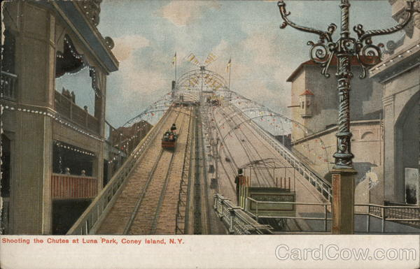 Shooting the Chutes at Luna Park Coney Island New York