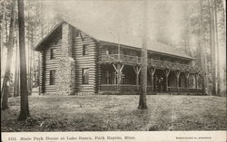 State Park House at Lake Itasca Postcard