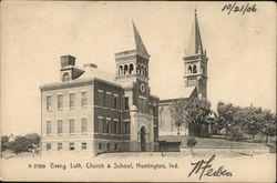 Evang. Luth. Church & School Postcard