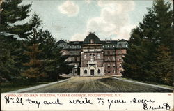 Approach to Main Building, Vassar College