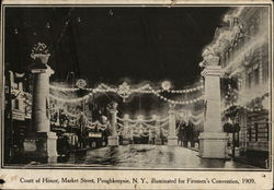 Court of Honor, Market Street Illuminated for Fireman's Convention, 1909