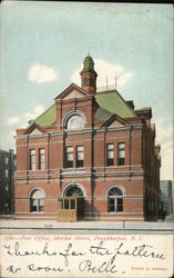 1780 - Post Office, Market Street, Poughkeepsie, N. Y. Postcard