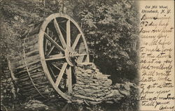 Old Mill Wheel Postcard