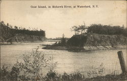 Goat Island in Mohawk River