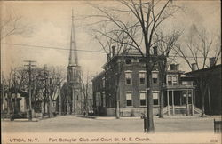 Fort Schuyler Club and Court St. M.E. Church