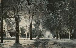Steuben Park on a Winter Night