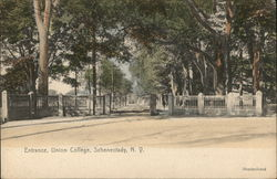 Entrance, Union College Postcard