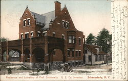 Residence and Laboratory of Prof. Steinmeitz Postcard