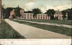 North Union College Building Postcard