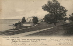 View on Lake Ontario and Quartermaster Building, Madison Barracks
