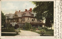 Residence of Honorable Levi P. Morton Postcard