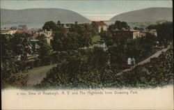 View of Newburgh, N.Y. and the Highlands from Downing Park