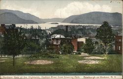 Northern Gate of the Highlands, Hudson River from Downing Park Postcard