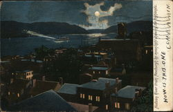 Hudson River from Newburgh by Moonlight Showing the Highlands