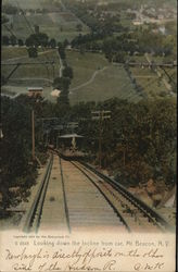 Looking Down the Incline from the Car, Beacon Mountain Postcard