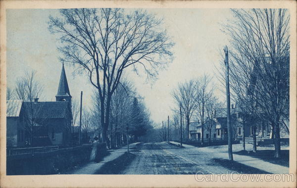 Residential Street, Probably New England, Vermont Cyanotypes