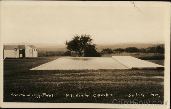 Swimming Pool, Mt. View Camps Solon Maine