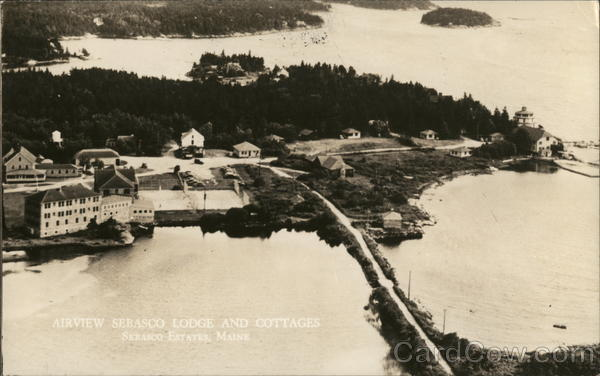 Airview Serasco Lodge and Cottages Sebasco Estates Maine