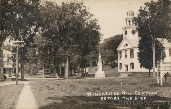 Common Before the 1909 Fire Winchester New Hampshire
