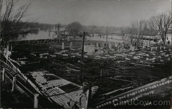 Rhodes on the Pawtuxet Destroyed by Fire Feb 11, 1915 Cranston Rhode Island