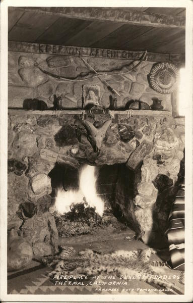 Fireplace at the Desert Traders Thermal California