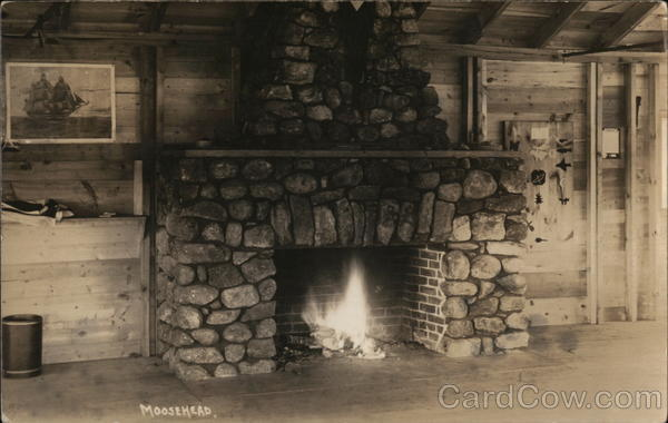 Fireplace at Moosehead Lodge Greenville Maine