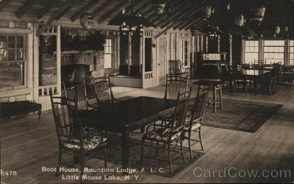 Boat House, ALC Mountain Lodge, Little Moose Lake Old Forge New York