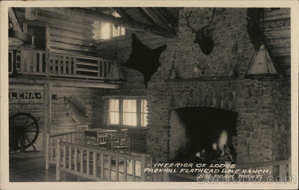 Interior of Lodge, Parkhill Flathead Lake Ranch Bigfork Montana