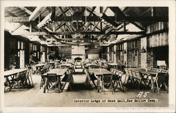 Interior Lodge or Mess Hall, Tar Hollow Camp Laurelville Ohio