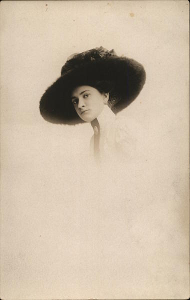 Portrait of Woman in Hat Hats