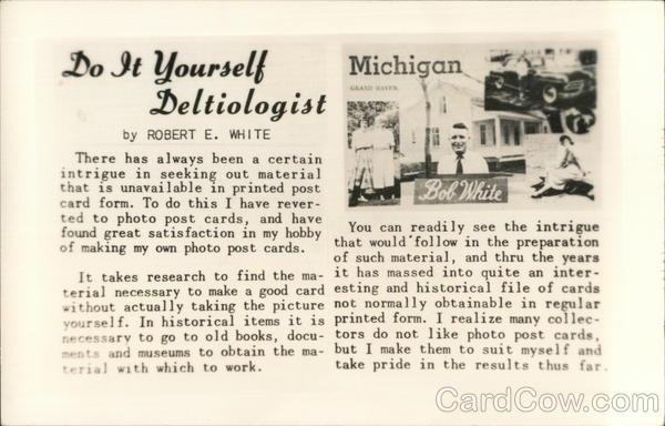 Do it yourself deltiologist bob white new orleans la postcard solutioingenieria Image collections